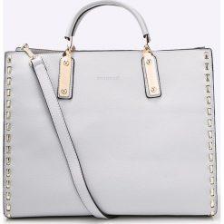 Monnari - Torebka. Szare torebki klasyczne damskie Monnari, w paski, z materiału, duże. W wyprzedaży za 229,90 zł.