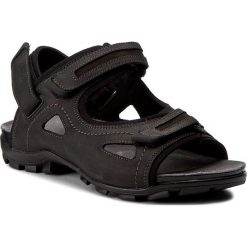 Sandały WOJAS - 7300-51 Czarny/Popiel. Czarne sandały męskie skórzane Wojas. W wyprzedaży za 219,00 zł.