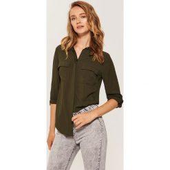 Gładka koszula - Khaki. Brązowe koszule damskie House, l. Za 59,99 zł.