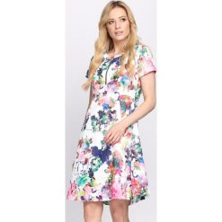 Sukienki: Biało-Zielona Sukienka Liquorice