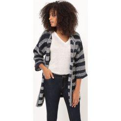 Bawełniany sweter rozpinany z rękawem 3/4. Szare kardigany damskie marki La Redoute Collections, m, z bawełny, z kapturem. Za 230,96 zł.