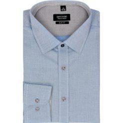 Koszula bexley 2452 długi rękaw slim fit niebieski. Niebieskie koszule męskie jeansowe marki Recman, m, z klasycznym kołnierzykiem, z długim rękawem. Za 129,00 zł.