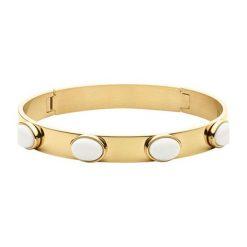 Bransoletki damskie: Bransoletka w kolorze złotym z kamieniami