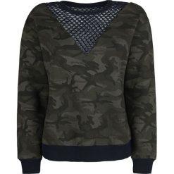 Fashion Victim Camo Sweatshirt Bluza damska kamuflaż. Zielone bluzy damskie Fashion Victim, xl. Za 184,90 zł.