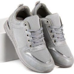 BUTY SPORTOWE DAMSKIE - odcienie szarości i srebra. Niebieskie buty sportowe damskie marki CZASNABUTY. Za 69,90 zł.