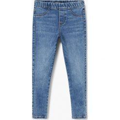 Mango Kids - Jeansy dziecięce Rosana 104-164 cm. Niebieskie rurki dziewczęce Mango Kids, z bawełny. Za 59,90 zł.