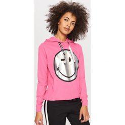 Bluzy damskie: Bluza smiley world – Różowy