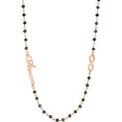 Naszyjniki damskie: Naszyjnik w kolorze czarno-różowozłotym