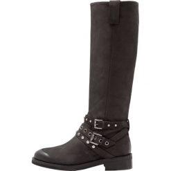 Jonak MAURO Kowbojki i Buty motocyklowe noir. Czarne buty zimowe damskie marki Jonak, z materiału. W wyprzedaży za 491,40 zł.