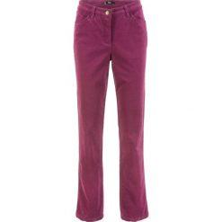 Spodnie sztruksowe ze stretchem bonprix jeżynowy. Niebieskie rurki damskie marki House, z jeansu. Za 79,99 zł.