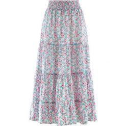 Długa spódnica, kolekcja Maite Kelly bonprix perłowy jasnoróżowy w kwiaty. Czerwone długie spódnice bonprix, w kwiaty. Za 109,99 zł.