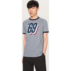 T-shirty męskie: T-shirt z nadrukiem vintage – Niebieski