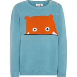 """Sweter """"Olvano"""" w kolorze niebieskim. Niebieskie swetry chłopięce marki Name it Kids, z bawełny, z okrągłym kołnierzem. W wyprzedaży za 49,95 zł."""