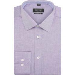Koszule męskie na spinki: koszula bexley 1881 długi rękaw custom fit fiolet