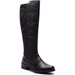 Oficerki RIEKER - Z7391-01 Schwarz. Czarne buty zimowe damskie marki Rieker, z materiału. Za 299,00 zł.