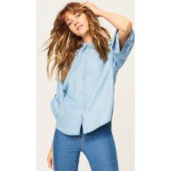 Koszula z lyocellu - Niebieski. Niebieskie koszule męskie marki Reserved, z lyocellu. Za 99,99 zł.