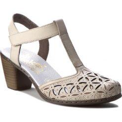Rzymianki damskie: Sandały RIEKER – 40995-80 Weiss
