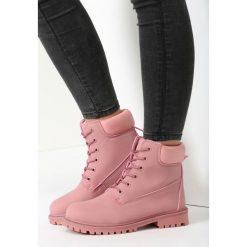 Buty zimowe damskie: Różowe Traperki Finito