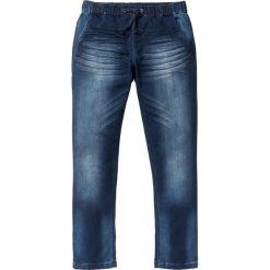 """Dżinsy dresowe Regular Fit Straight bonprix ciemnoniebieski """"used"""". Niebieskie spodnie dresowe męskie marki House, z jeansu. Za 109,99 zł."""
