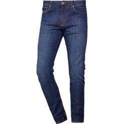 Emporio Armani Jeansy Slim Fit denim blue. Szare jeansy męskie relaxed fit marki Emporio Armani, l, z bawełny, z kapturem. Za 669,00 zł.