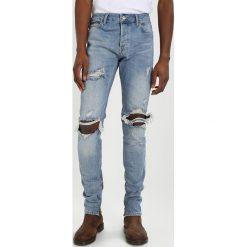 Topman STACKER ZIP Jeansy Slim Fit blue. Niebieskie jeansy męskie Topman. Za 249,00 zł.
