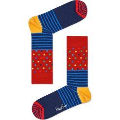 Happy Socks - Skarpetki Stripe & Dots. Szare skarpetki damskie Happy Socks, z bawełny. Za 39,90 zł.