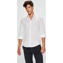 Trussardi Jeans - Koszula Colla. Szare koszule męskie jeansowe Trussardi Jeans, z klasycznym kołnierzykiem, z długim rękawem. W wyprzedaży za 279,90 zł.