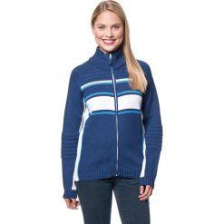 Sweter rozpinany w kolorze granatowo-niebiesko-białym. Czerwone golfy damskie marki CMP, z materiału. W wyprzedaży za 254,95 zł.