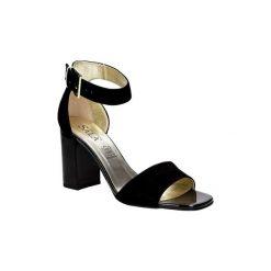 Rzymianki damskie: Sandały Sala  Sandały zamszowe na słupku  5034