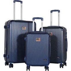Walizki: Zestaw walizek w kolorze granatowym – 3 szt.