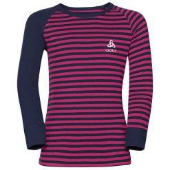 Odlo Koszulka dziecięca termoaktywna Shirt l/s crew neck czarno-czerwona r. 152. Czarne t-shirty chłopięce marki Odlo. Za 87,08 zł.