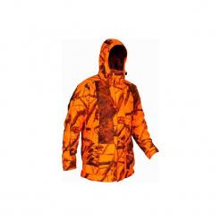 Kurtka myśliwska Sibir 300 CAMOFLUO. Brązowe kurtki męskie marki LIGNE VERNEY CARRON, m, z bawełny. Za 499,99 zł.