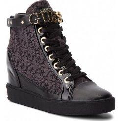 Sneakersy GUESS - FLFRY3 FAL12 BLKBL. Czarne sneakersy damskie marki Guess, z materiału. Za 769,00 zł.