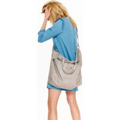 Shopper bag damskie: DUŻA ZAPINANA TORBA SHOPPER