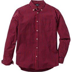 Koszula z długim rękawem Regular Fit bonprix czerwono-ciemnoniebieski w kratę. Białe koszule męskie na spinki marki bonprix, z klasycznym kołnierzykiem, z długim rękawem. Za 49,99 zł.