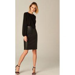 Spódniczki: Ołówkowa spódnica z eko skóry – Czarny