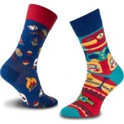 Skarpety Wysokie Unisex MANY MORNINGS - Apache Tribe Kolorowy. Czerwone skarpetki męskie marki Happy Socks, z bawełny. Za 29,00 zł.