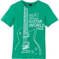 T-shirty męskie z nadrukiem: T-shirt Slim Fit bonprix szmaragdowy