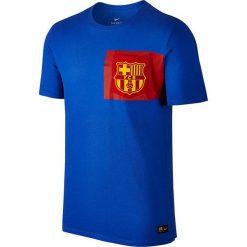Nike Koszulka męska FC Barcelona Crest Tee niebieska r. XL (832658-480). Niebieskie t-shirty męskie marki Nike, m. Za 82,47 zł.