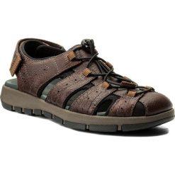Sandały męskie: Sandały CLARKS - Brixby Cove 261315217 Dark Brown Leather