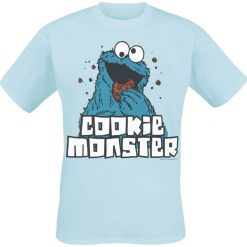 T-shirty męskie: Ulica Sezamkowa Cookie Monster T-Shirt jasnoniebieski