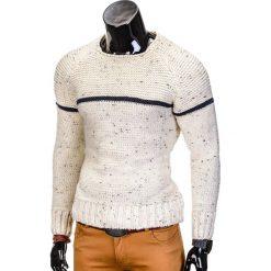 SWETER MĘSKI E102 - ECRU. Zielone swetry klasyczne męskie marki Ombre Clothing, na zimę, m, z bawełny, z kapturem. Za 45,00 zł.