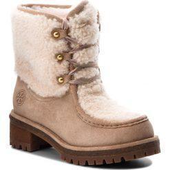 Trapery TORY BURCH - Meadow Boot 49197 Perfect Sand/Natural 256. Brązowe buty zimowe damskie Tory Burch, z materiału. W wyprzedaży za 1679,00 zł.