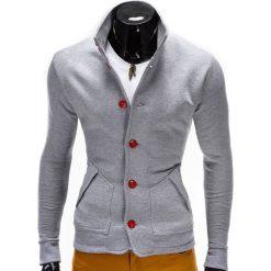 Bluzy męskie: BLUZA MĘSKA ROZPINANA BEZ KAPTURA CARMELO – SZARA