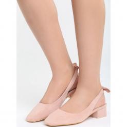 Różowe Sandały Way Of Love. Czerwone sandały damskie na słupku marki Born2be, z materiału, na wysokim obcasie. Za 69,99 zł.