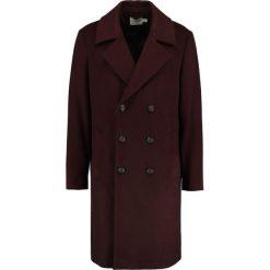 Topman OVERSIZE Płaszcz wełniany /Płaszcz klasyczny burgundy. Czerwone płaszcze na zamek męskie Topman, l, z materiału, klasyczne. Za 509,00 zł.