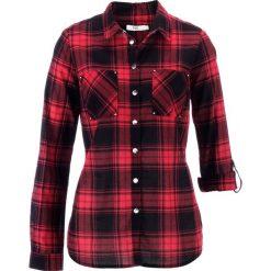 Bluzka w kratę bonprix czerwono-czarny w kratę. Czerwone bluzki damskie bonprix. Za 69,99 zł.