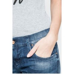 Diesel - Jeansy Gruppe-Ankle. Niebieskie jeansy damskie rurki Diesel, z aplikacjami, z bawełny, z obniżonym stanem. W wyprzedaży za 599,90 zł.
