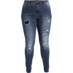 City Chic JEAN HARLEY TEAR IT UP Jeans Skinny Fit dark denim. Niebieskie jeansy damskie relaxed fit City Chic. W wyprzedaży za 341,10 zł.