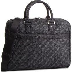 Torba na laptopa GUESS - HM6606 POL91  BLA. Czarne torby na laptopa marki Guess, z aplikacjami, ze skóry ekologicznej. Za 699,00 zł.